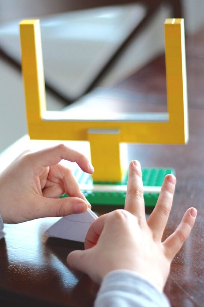 Paper Football Lego Game - Super Bowl Party Game Ideas