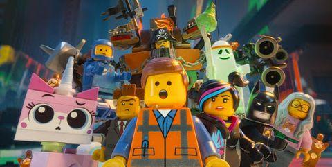 imagen promocional de los protagonistas de la lego película 2
