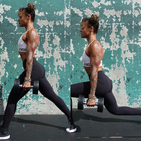Physical fitness, Sportswear, Arm, Leg, Tights, Lunge, Muscle, Exercise, Thigh, Recreation,