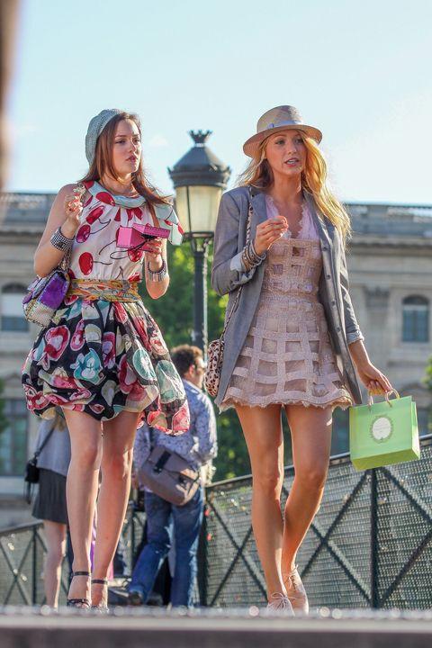 'gossip girl' on location in paris july, 5th