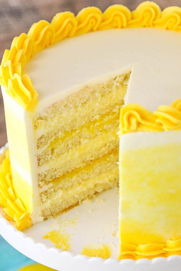 lemon cakes bavarian