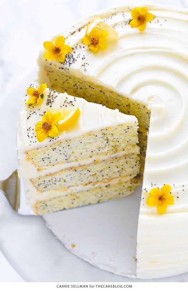 lemon cakes poppy seed