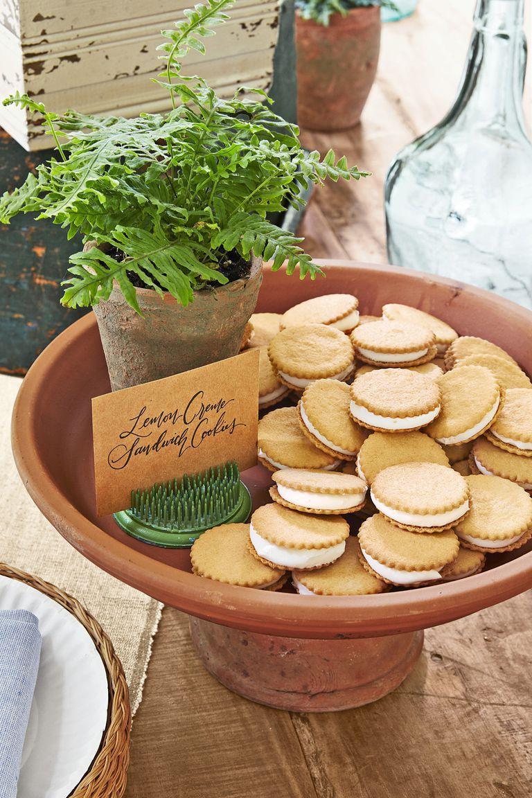 Lemon Creme Cookie Sandwiches -Easter Desserts