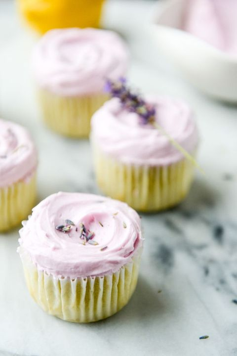 lemon cupcakes with lavender frosting valentines cupcakes