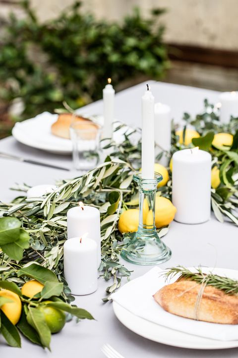 Yellow, Tableware, Brunch, Table, Dishware, Branch, Plant, Meal, Food, Porcelain,
