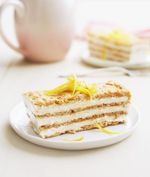 lemon maple icebox cake