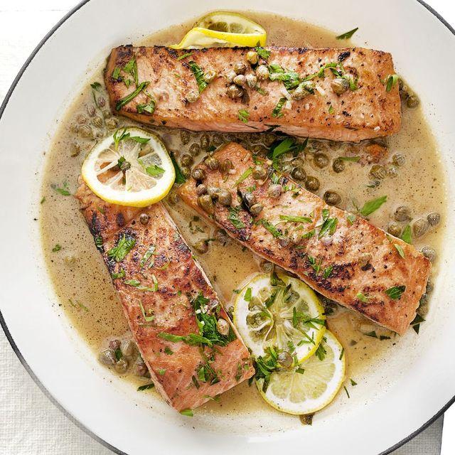lemony salmon piccata recipe