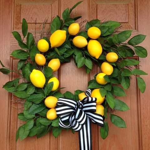 Lemon Wreath - Summer Wreaths