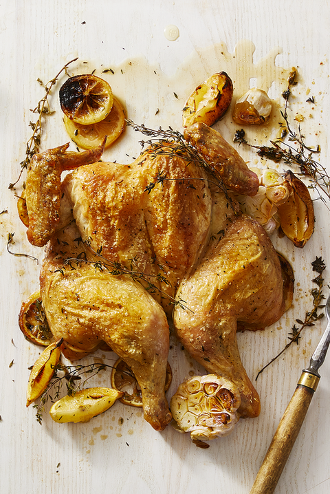 lemon thyme butterflied roasted chicken
