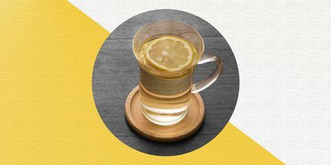 Yellow, Drink, Serveware, Lemon, Saucer, Wood,