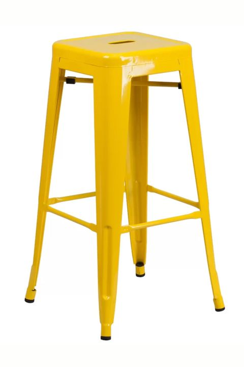 Lemon Yellow Home Decor Stool