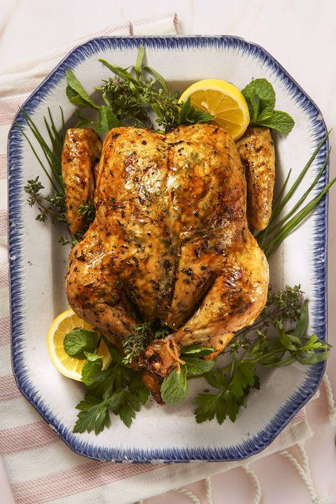 lemony herb roast chicken