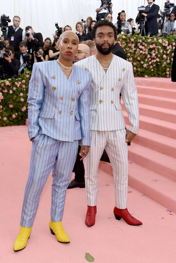 Lena Waithe and Kerby Jean-Raymond In custom Pyer Moss
