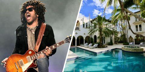 Lenny Kravitiz Miami home