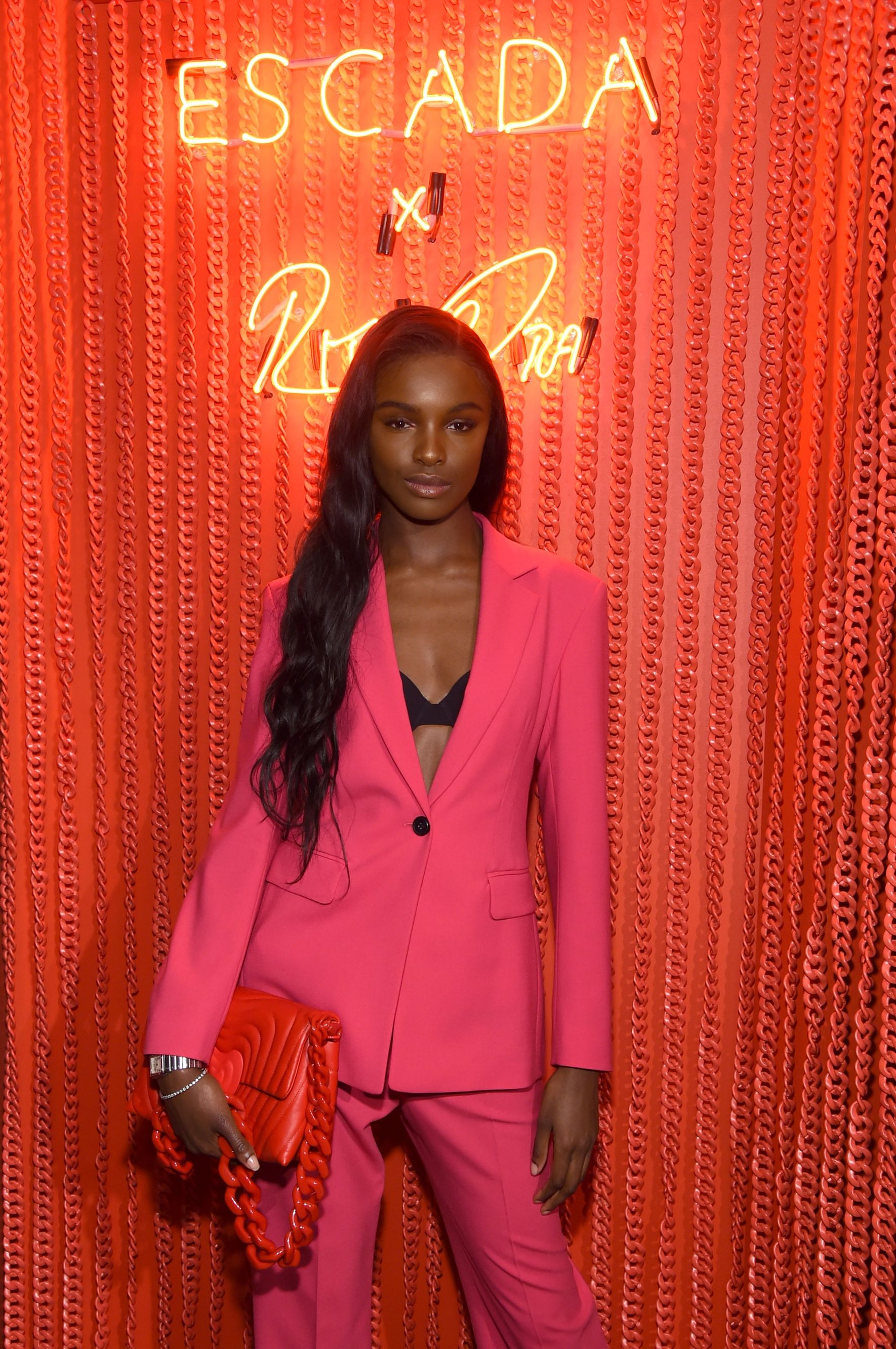 Leomie Anderson Leomie Anderson attends the launch of the Escada Heartbag by Rita Ora on March 27 New York City.