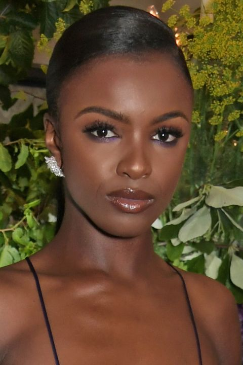 How to recreate Leomie Anderson's pretty-in-purple eye make-up