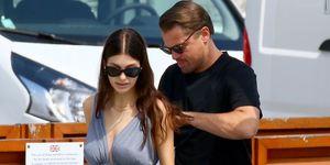 Leonardo Dicaprio y Camila Morrone en Cannes