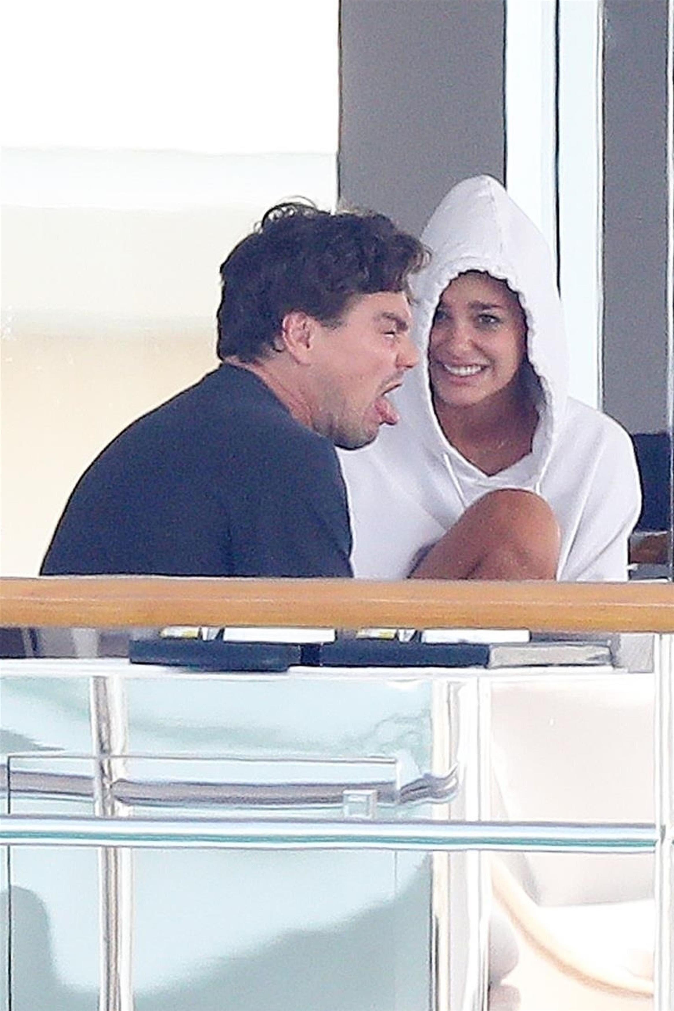 leonardo dicaprio face yacht