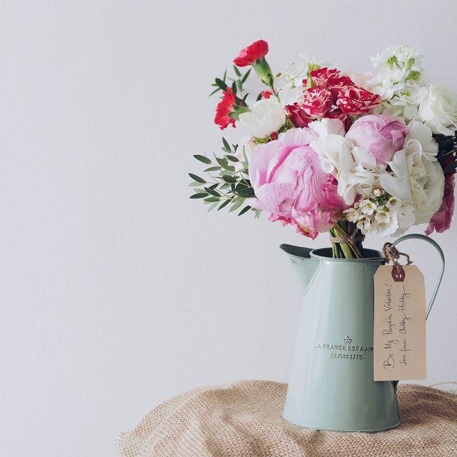 Flower, Bouquet, Cut flowers, Pink, Vase, Plant, Peony, Artificial flower, Flower Arranging, Floristry,