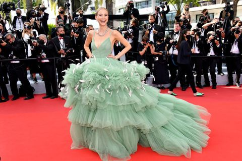 leonie hanne  red carpet the 74th annual cannes film festival
