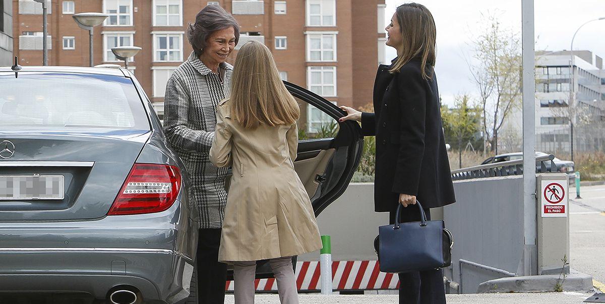 Leonor, cariñosa con su abuela Sofía