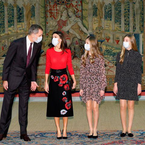 los reyes y sus hijas presiden reunión los premios princesa de girona