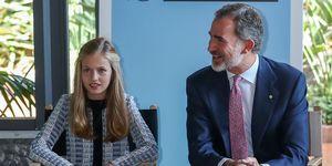 El rey Felipe VI protege a su hija Leonor