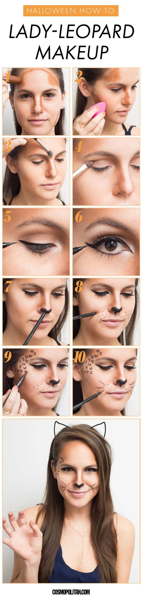 Halloween Leopard Makeup Tutorial Cheetah Costume Makeup