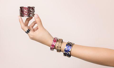 Bracelet, Bangle, Jewellery, Fashion accessory, Wrist, Finger, Arm, Fashion, Hand, Wristband,
