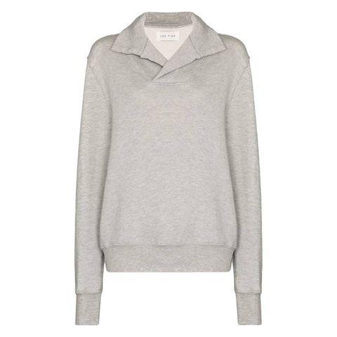 les tien yacht brushed cotton sweatshirt