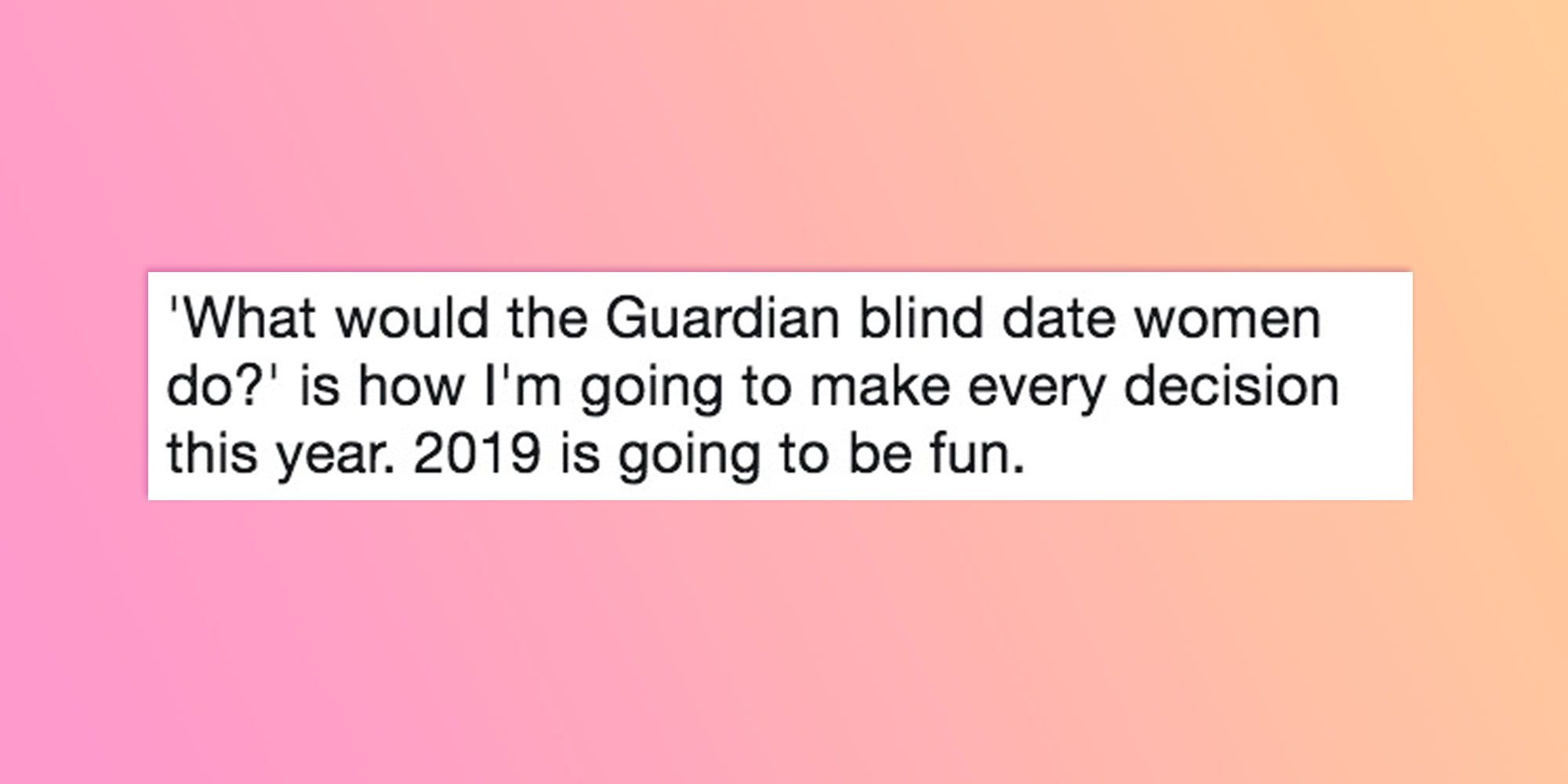 32f24a4fc ICYMI the Internet is absolutely obsessed with this joyous Guardian blind  date