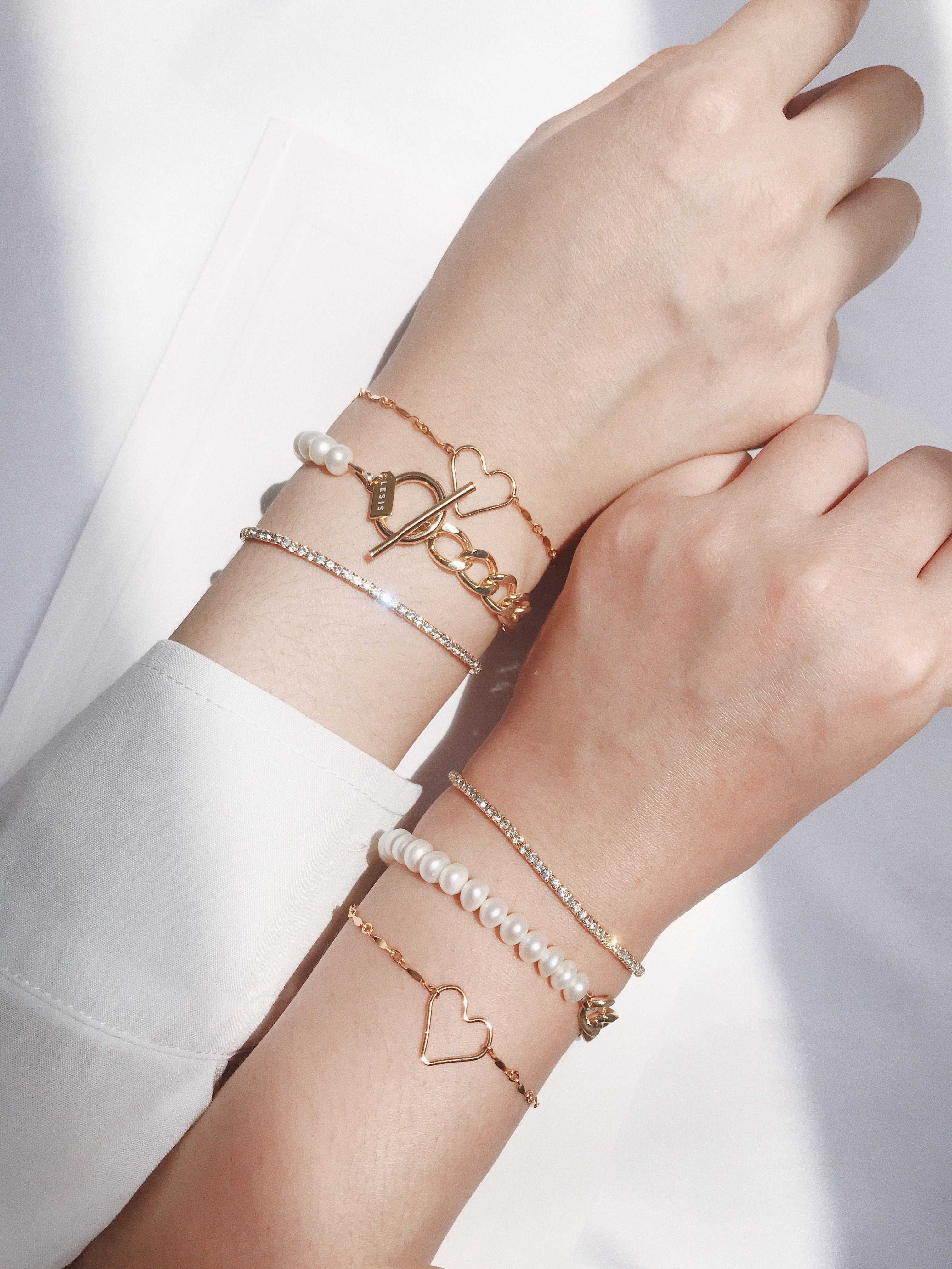 LESIS, 珍珠, 金屬, 都會, 小資女, 輕珠寶, 配件, 飾品, 手環, 手鍊, 穿搭