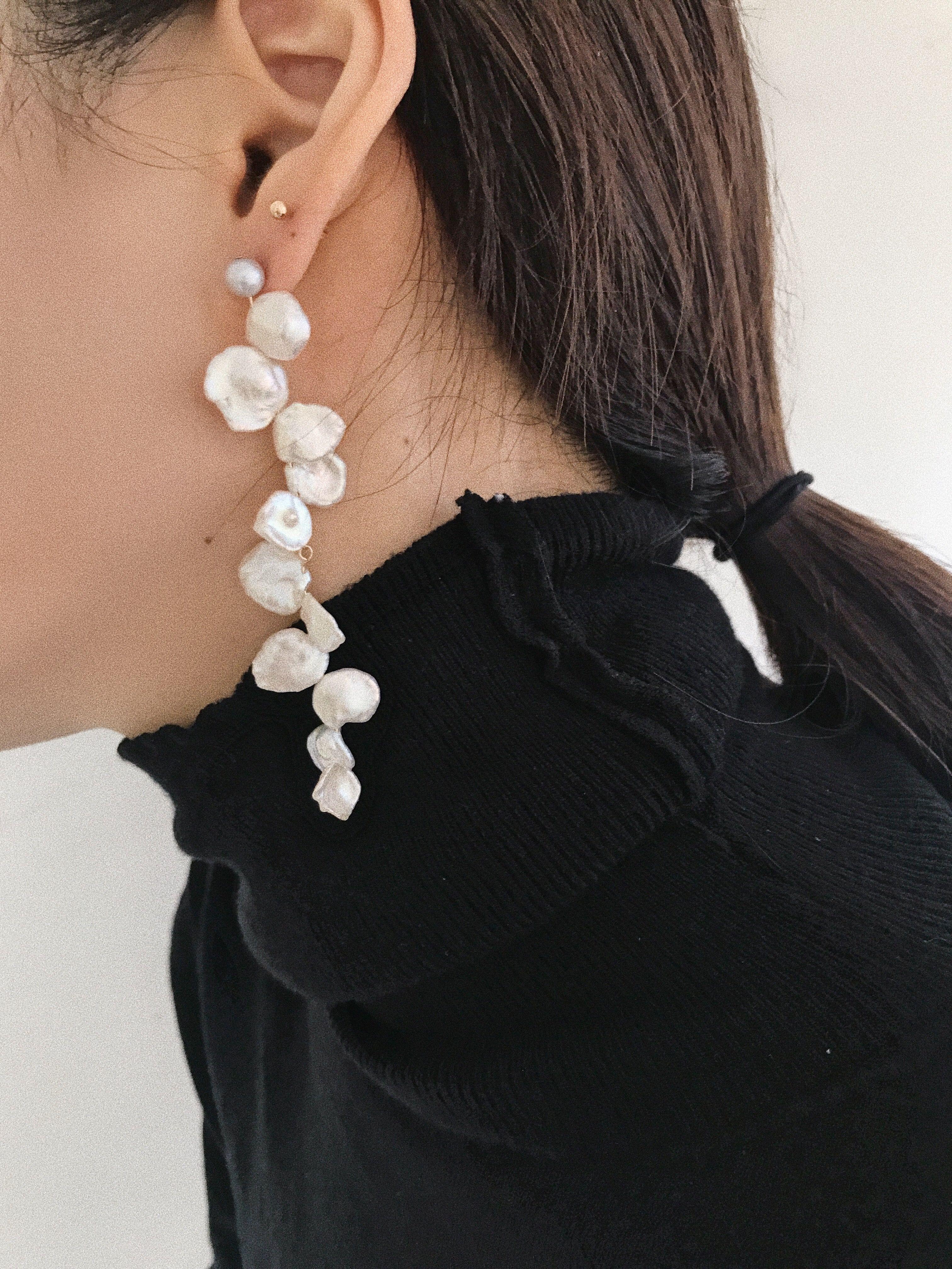 LESIS, 珍珠, 金屬, 鉚釘, 配件, 飾品, 穿搭, 小資女, 優雅, 平價