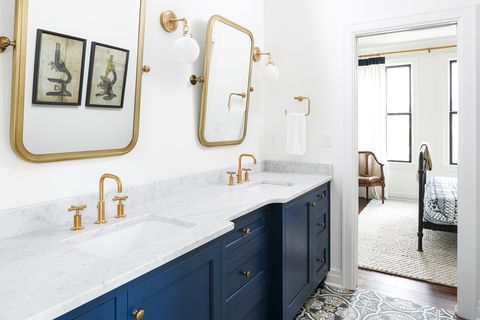 Navy Blue And Gold Room Decor House Color Schemes