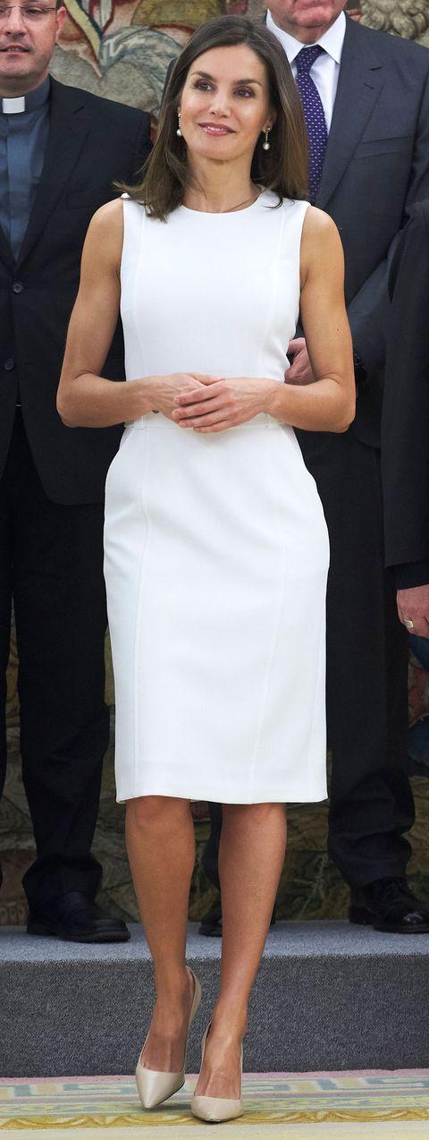 La reina Letizia en audiencias en el Palacio de la Zarzuela, 10 de julio de 2018