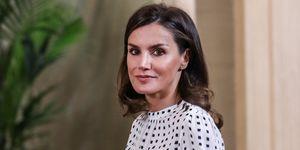 La reina Letizia ha recuperado un vestido que estrenó en septiembre de 2018 para recibir en audiencia a los miembros 'Consejo Internacional del Teatro Real', en el palacio de la Zarzuela.