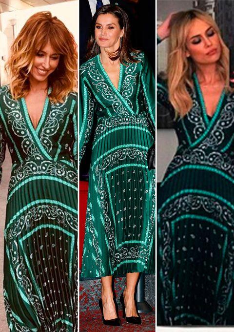 La Reina se ha decantado por el mismo vestido de Sandro que ya han llevado presentadoras como Emma García y Patricia Conde.