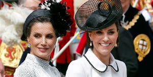 La reina Letizia y Kate Middleton en una foto del pasado lunes.