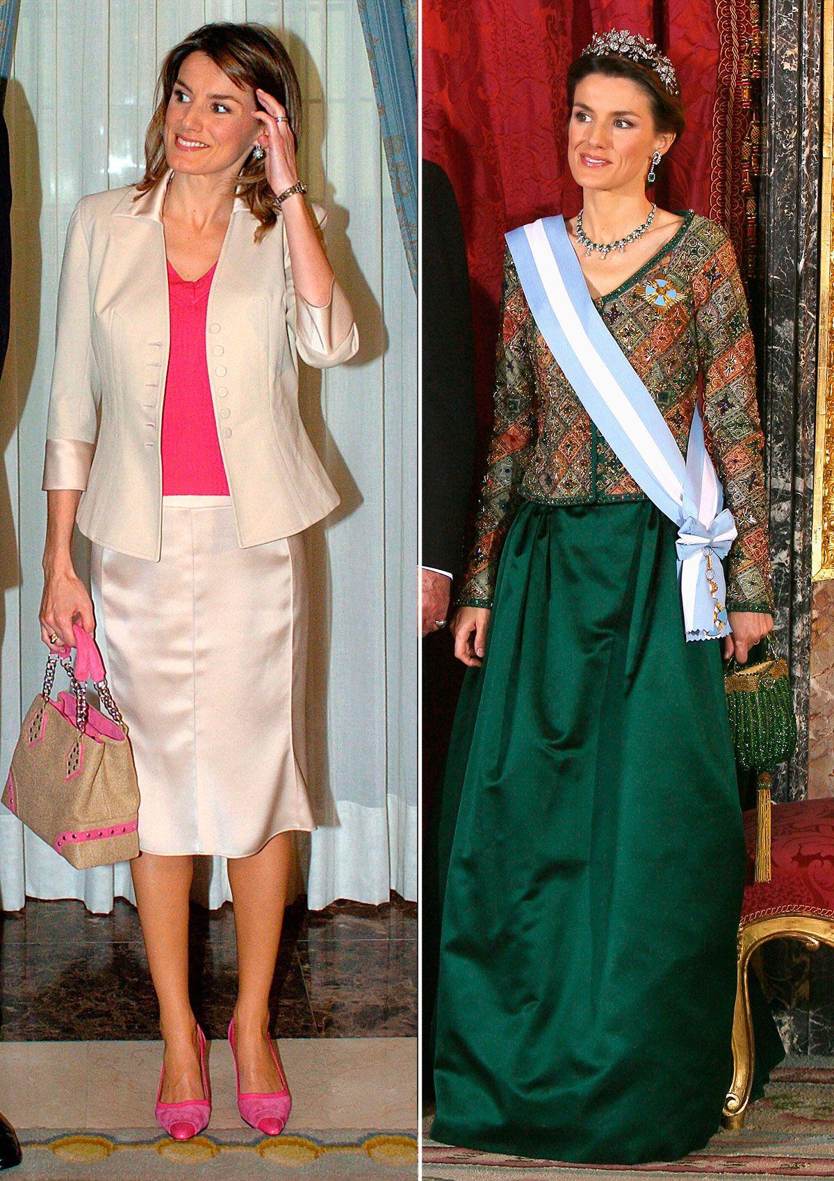 Con motivo del 15 aniversario del anuncio de su compromiso con el rey Felipe, repasamos los looks más llamativos de la reina en este tiempo.
