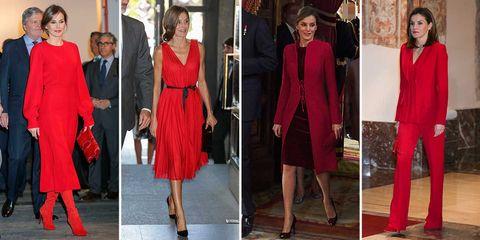 cdc46803 Hasta en 12 ocasiones, la Reina ha optado por el color rojo para sus  apariciones