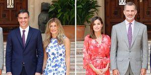 Duelo floral entre la reina Letizia y María Begoña Fernández en su primer encuentro oficial