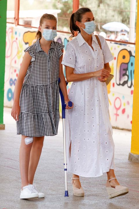letizia vestido blanco