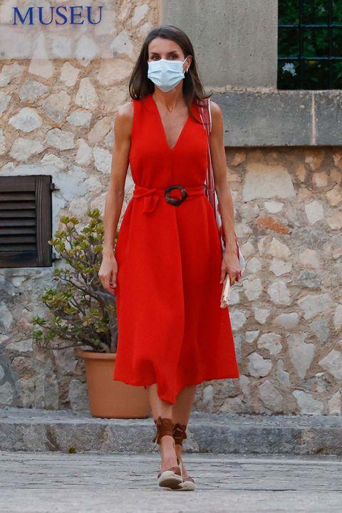 letizia vestido rojo