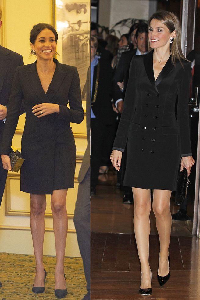 La reinaLetizia y Meghan Markle con el mismo look