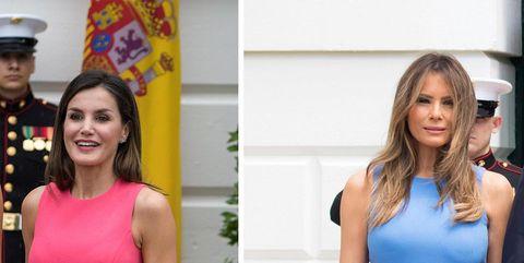 La reinaLetizia y Melania Trump
