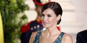 La reina Letizia en la cena de gala ofrecida por los Macri en Argentina