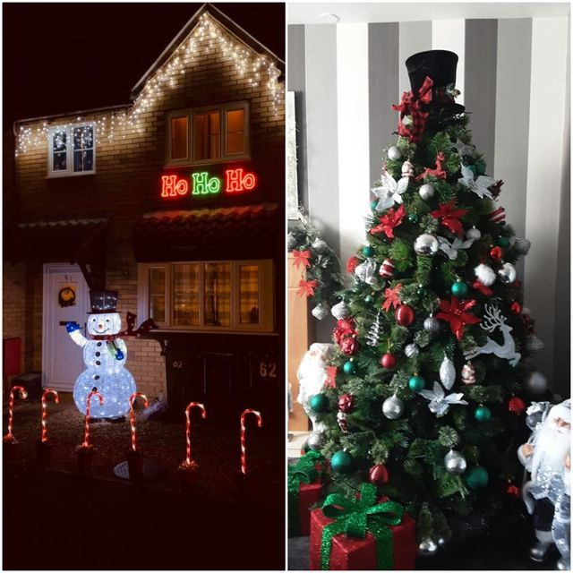 nottinghamshire locals bring festive cheer to lockdown by putting up christmas decorations early