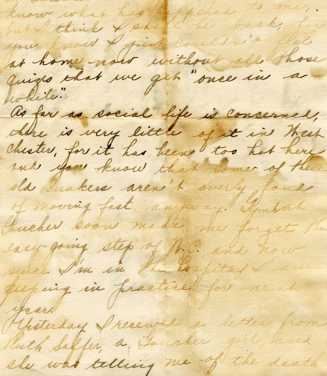 an old hand written letter that has a grunge appeal from water damage