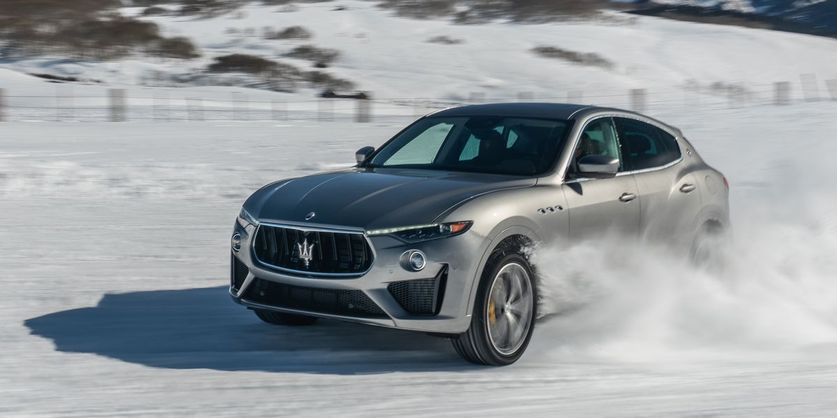 We Drive 2020 Maserati Levante GTS and Ghibli on a Frozen Racetrack