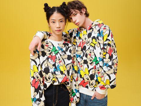 Ear, Yellow, Sleeve, Textile, Denim, Fashion, Street fashion, Fashion design, Bun, Makeover,